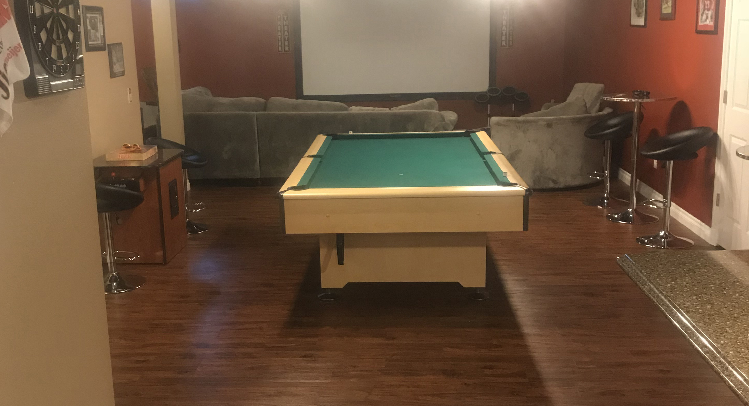 pool room build in Ann Arbor, MI