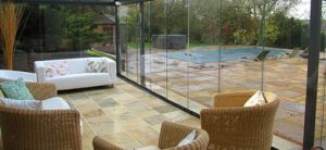 glass sunroom by pool in Perrysburg, OH